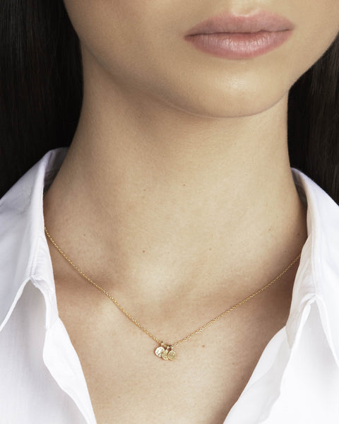 Trio Necklace in 18k Gold