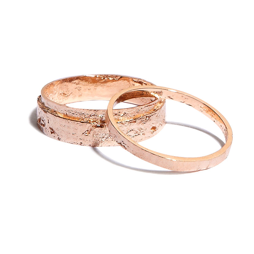 Women's Slim Paper Ring in 18k Rose Gold
