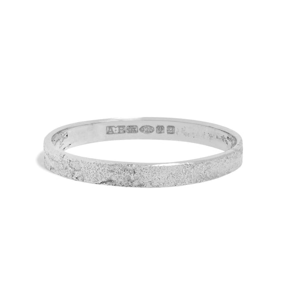 Men's Slim Paper Ring in Silver