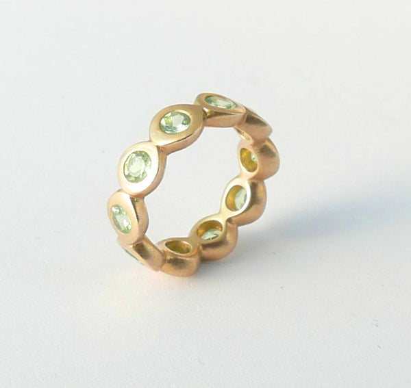 Tsavorite Arcade Eternity Ring