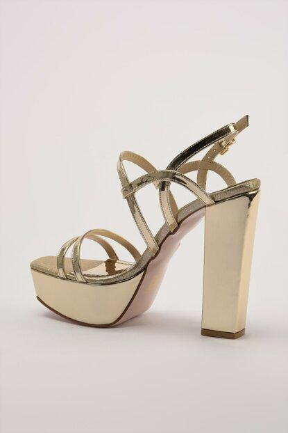Women's Gold Classic Heeled Shoes - Kuther Market