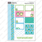 Moss & Lily Frogs Weekly Kit - Planner Stickers
