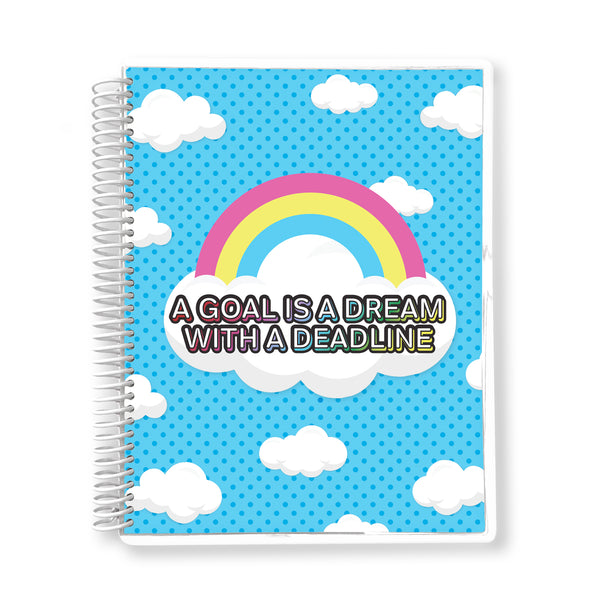 A Goal is a Dream with a Deadline - 12-month Undated Planner