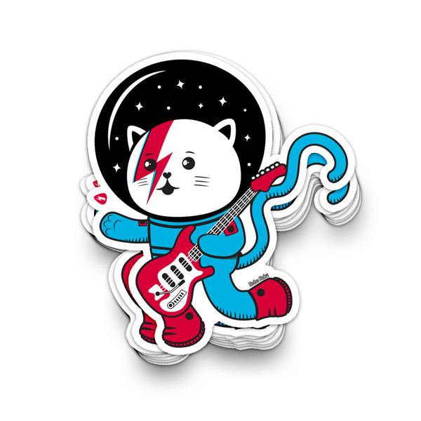 Major Tom Cat (Space Oddity Variant) Sticker