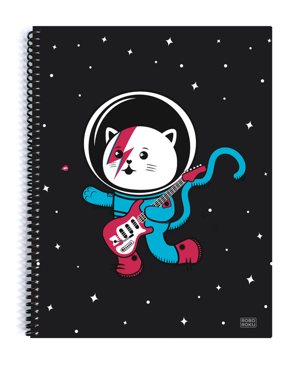 Major Tom Cat (Space Oddity Variant) Spiral Notebook