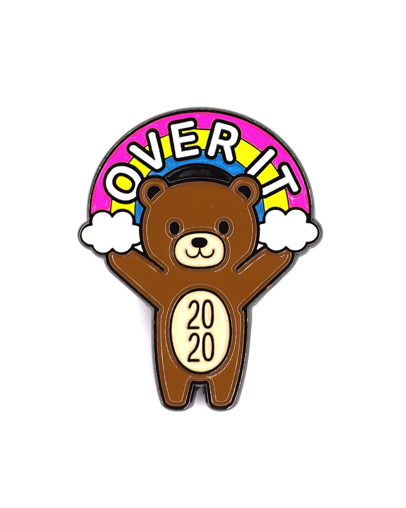 Over It Mood Bear Enamel Pin Pal