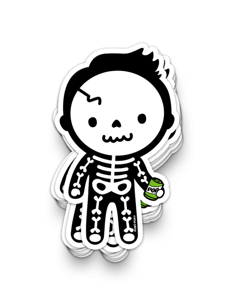 Soda Pop Skelly Vinyl Sticker
