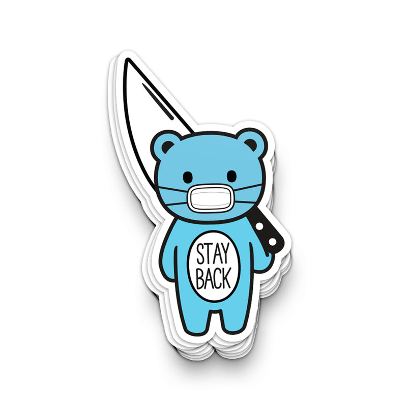 Stay Back Mood Bear by Robo Roku