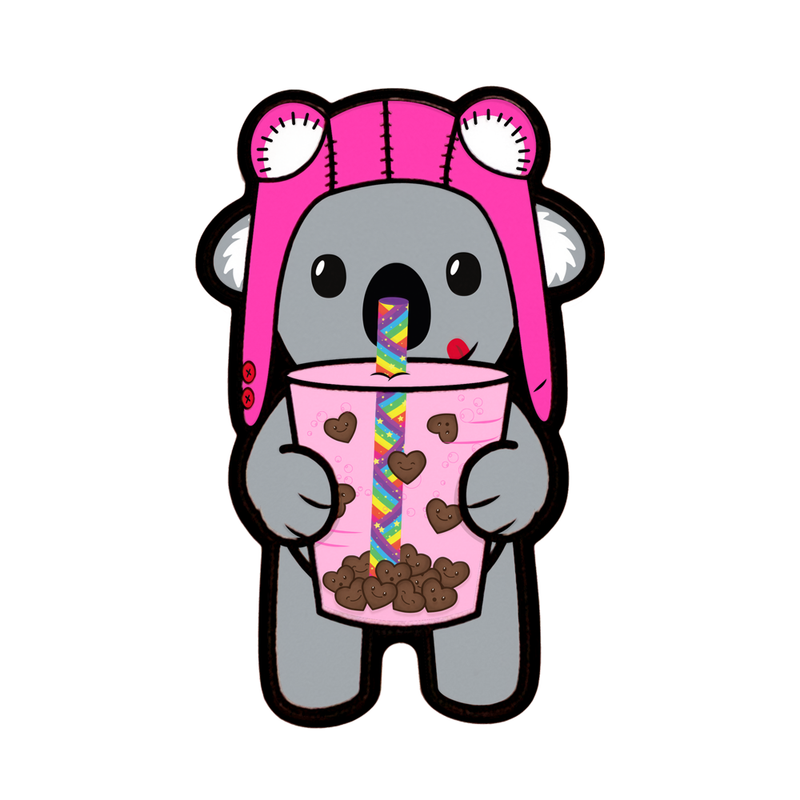 Bubble Tea Ace Koala (Kawaii Love Edition) - Limited Edition Pin