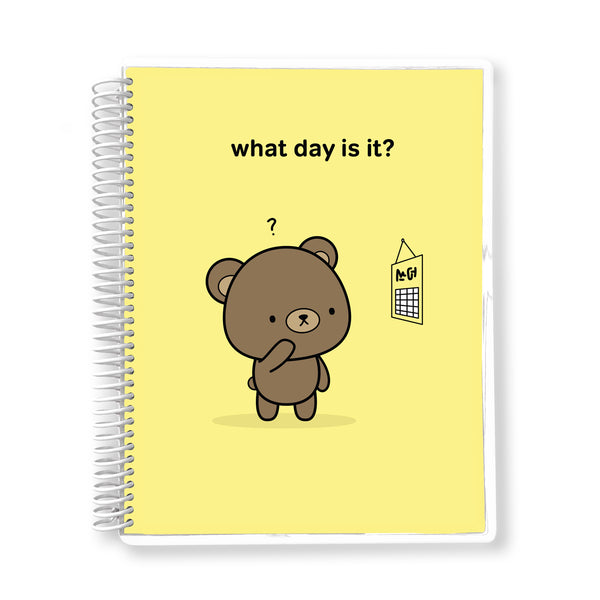 What Day is it? - 12-month Undated Planner