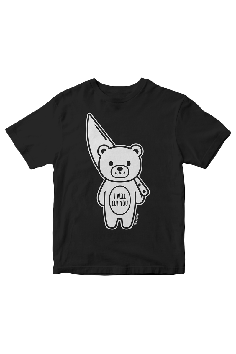 I Will Cut You Mood Bear Tee
