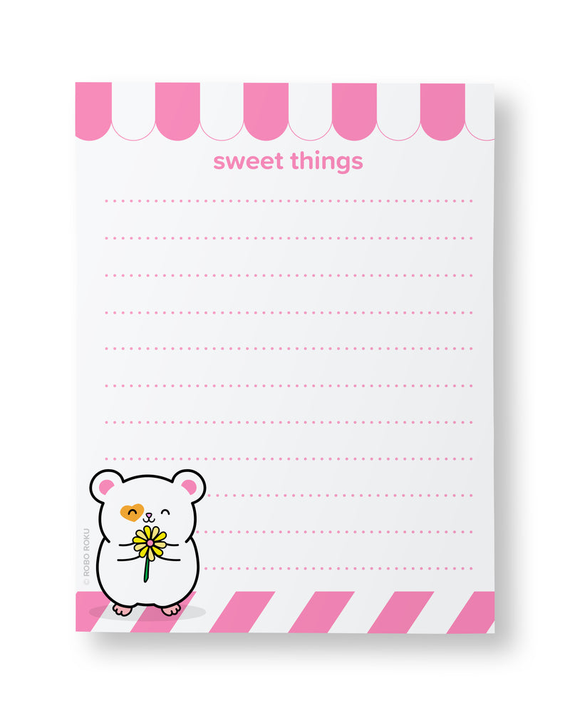 Daisy the Ham Ham Sweet Things - A2 Memo Pad