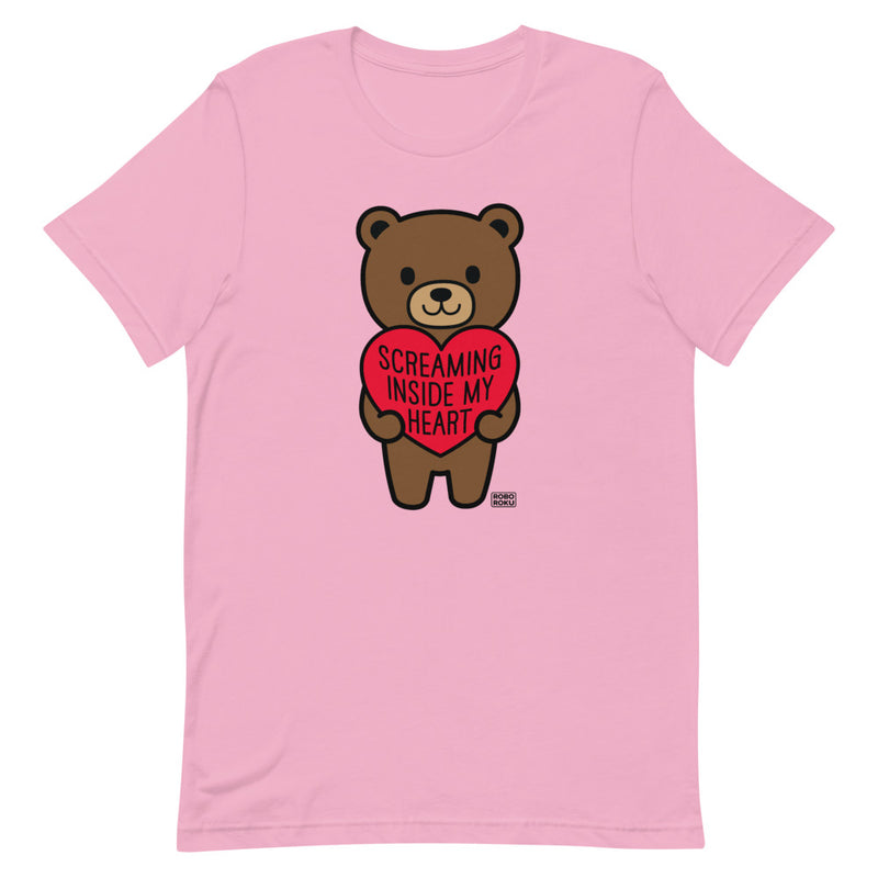 Screaming Inside My Heart Mood Bear Shirt