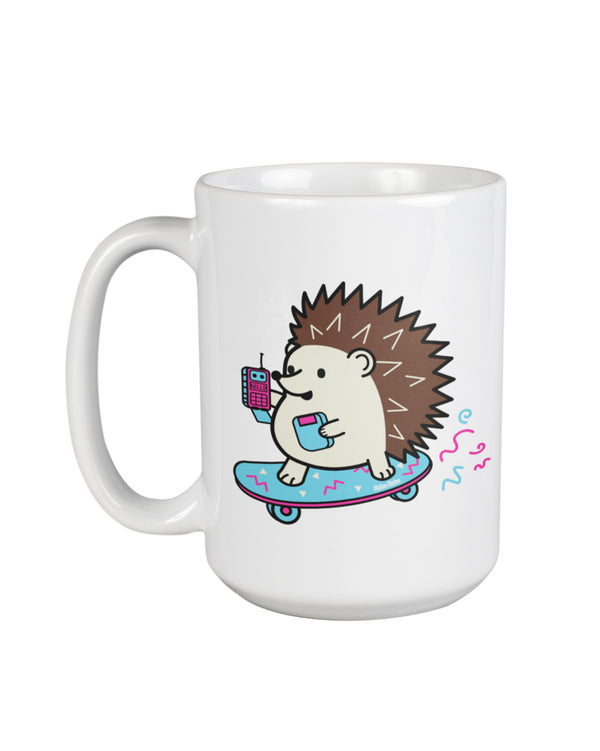 Duncan the Hedgehog Retrocade Skateboard 15oz Mug