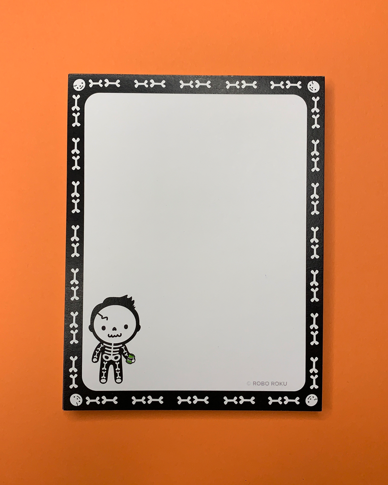 Soda Pop Skelly - A2 Memo Pad