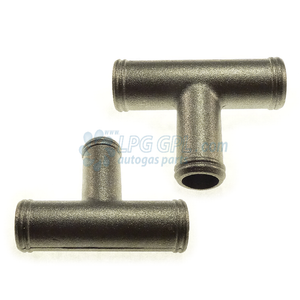 16 x 19 x 16 water T, car coolant T, metal T, water heater connection, Water T, lpg, autogas, lpg shop