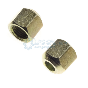 8mm compression nut, tomaseto valve nut, tomaseto fitting, lpg, autogas, 8 mm compression