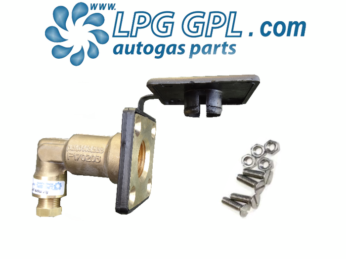 Autogas Filling Point 8mm Angled Stealthy Detachable Olive Fitting