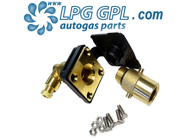 Autogas Filling Point 8mm Angled Detachable Bayonet Olive Fitting