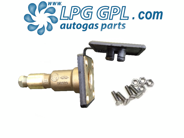 Autogas Filling Point 8mm Straight Stealthy Detachable Olive Fitting