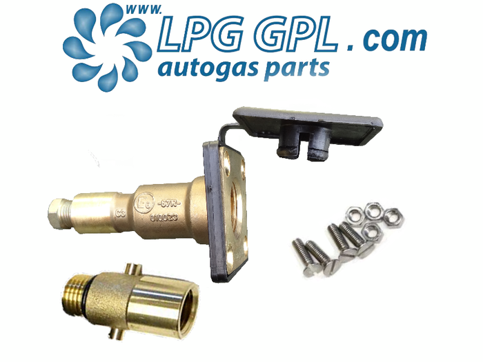 Autogas Filling Point 8mm Straight Detachable Bayonet Olive Fitting