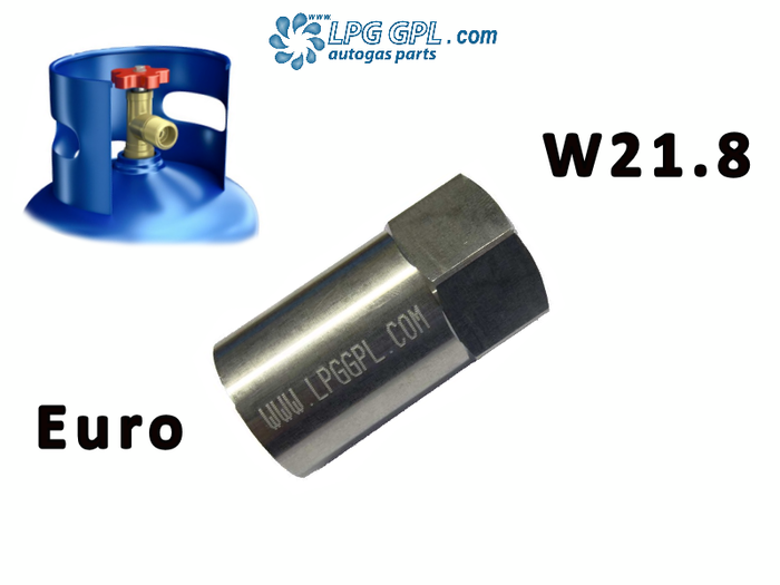 Euro Bottle W21.8 Adaptor Left Hand Thread For Propane LPG Gas Cylinders