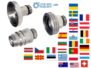 European travel, full set of adaptors, lpg, autogas, propane, refill, fill up, car, motorhome, caravan