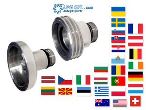 European travel, set of adaptors, lpg, autogas, propane, refill, fill up, car, motorhome, caravan