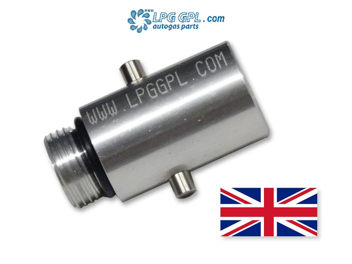 UK Bayonet To W21.8 Autogas LPG Filling Adapter For Flush Fillers