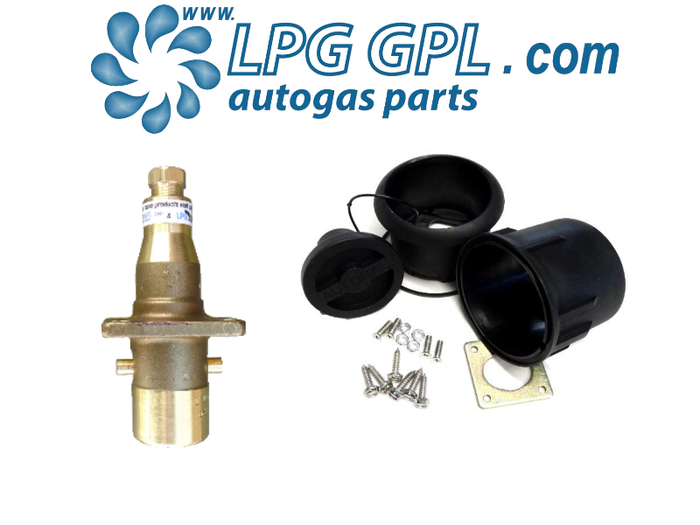 Autogas Filling Point 8mm Straight With Pot Bayonet Olive Fitting Brass