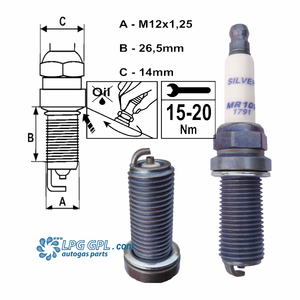 MR10S Brisk silver spark plugs for LPG GPL CNG Methane Methanol Nitrous fuels