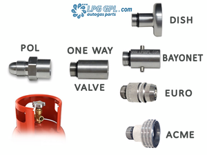 POL set of adapters, LPG, Propane, Gas, Bottle, Cylinders, refil in Europe, pump