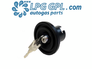 autogas locakble dust cap cover, tow bar mounted, gas cap with lock, bayonet, uk filler