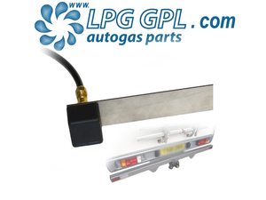 autogas square dust cap cover, tow bar mounted, bayonet
