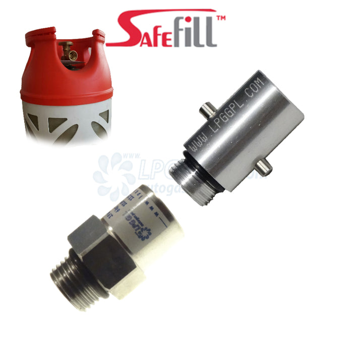 Safefill Gas Bottle Refill Adapter With Bayonet Fitting