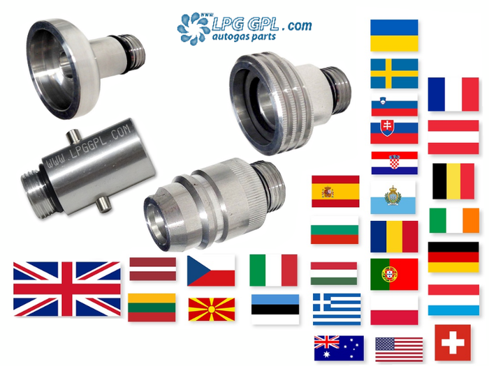 UK to European Travel Adaptor FULL Set For Filling Up LPG Autogas Propane