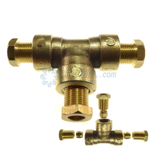 gas T, 8mm T, lpg connection, autogas shop, 8mm copper pipe connection, compression t 8mm