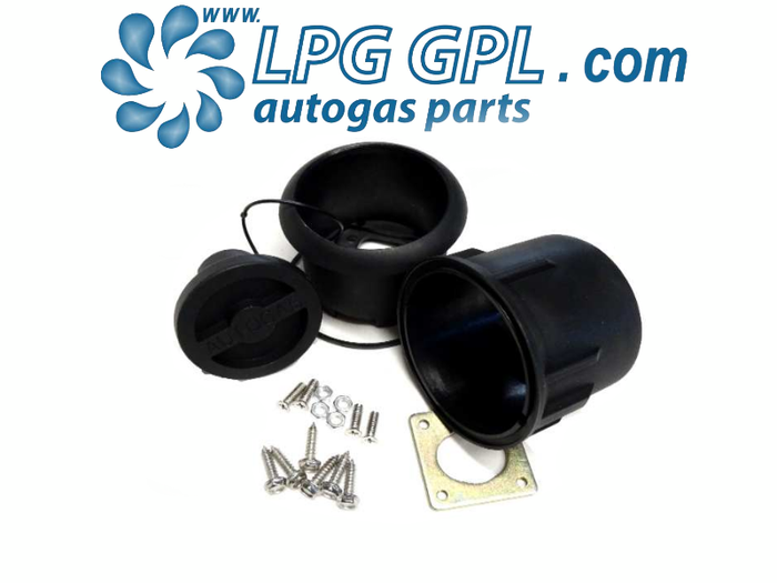 Autogas Filler Mounting Box With Dust Cap Round For Bayonet Filler UK