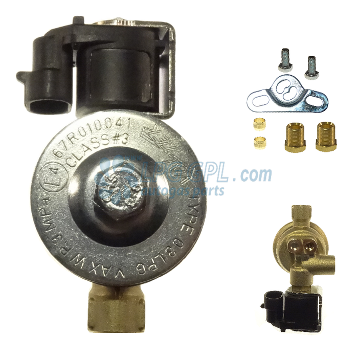 Valtek LPG Valve 6mm IN 6mm Out With Filter Plug In 12V 11W