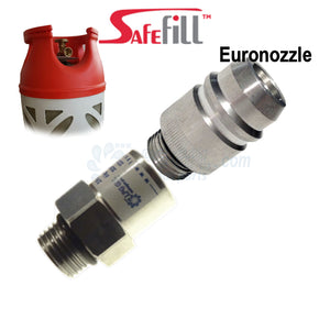 safe fill bottle adapter, safefill adapter, gas adaptor, travel adapter, euro nozzle, spain, lpg