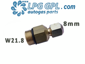 w21.8 to 8mm adaptor, converter, lpg, autogas, refill cylinders, propane, autogas
