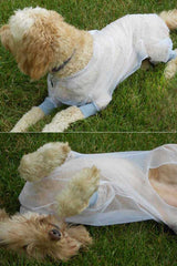 Additional views of dog wearing Bug Baffler insect protective jacket