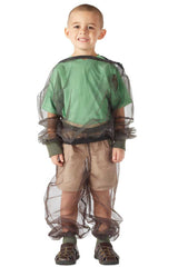 Child wearing BugBaffler insect protective pants and shirt