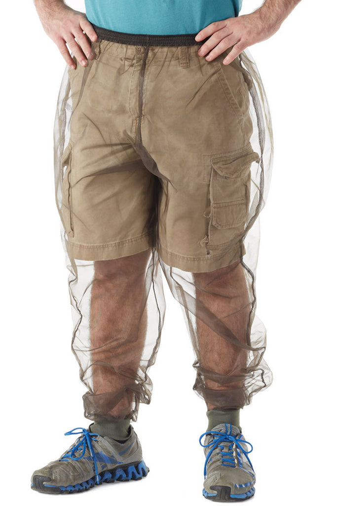 Man wearing Bug Baffler insect protective pants