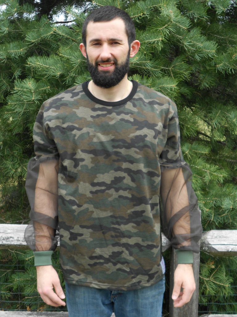 """NEW"" Camo T-Shirt With No-See-Um Mesh Sleeves"