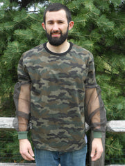 """NEW"" Camo T-Shirt With No-See-Um Mesh Sleeve/Available With Head Net"