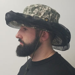 CAMO HAT WITH ATTACHED HEADNET