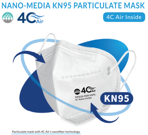 AireTrust Nano-media KN95 Particulate Mask with 4C Air BreSafe Filtration Material and Technology