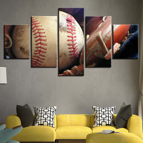 Art Painting Modular Pictures HD Printed Canvas 5 Panel Sports Baseball Frame Home Decoration Living Room Wall Cuadros Poster