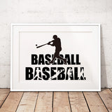Baseball Silhouette Canvas Art Prints And Poster Modern Baseball Quote Art Painting Wall Picture Boys Room Decor Athlete's Gift